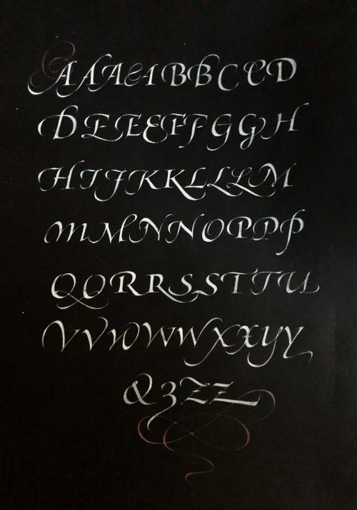 swash italic capital variations